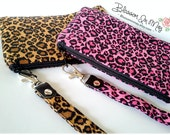 Sexy Pink Leopard Change purse, leopard clutch, leopard gift, pink leopard party, leopard pouch, animal print purse