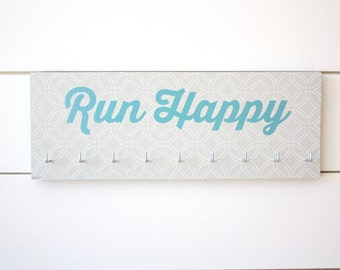 Running Medal Holder - Run Happy - Medium