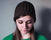 Crochet Wool Ribbed Beanie