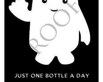 Doctor Who Adipose Wine Label or Digital File Custom & Personalized Available