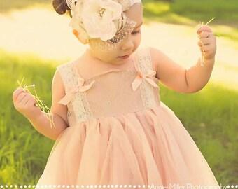 Ivory Feather Headband- Baby Girl Headband- Flower Gir Headband- Baby Headband- Newborn Headbands-Photo Prop