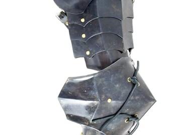New Medieval pair of complete pauldron in steel Armor Larp SH29