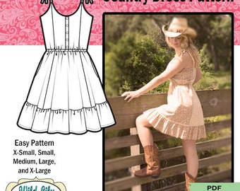 COUNTRY DRESS PATTERN