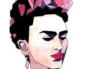 """Frida Kahlo Fine Art Print (8 X 10"""")"""