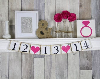 Save the Date Sign, Save the Date, Wedding Sign, Photo Prop, Engagement Sign, Save the Date Prop, Save the Date Banner, Engagement Photo