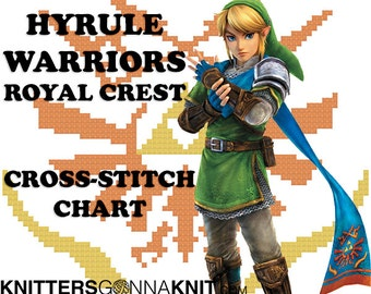 Hyrule Warriors Royal Crest Cross Stitch Chart