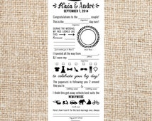 Wedding Libs- Personalized and Printable