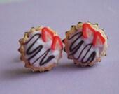 Choco/Strawberry Tartlet Earrings