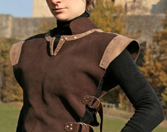 MADE TO ORDER - ranger unisex brown leather armor pagan medieval druid rogue larp fantasy renaissance