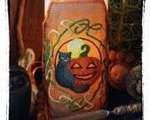 Wheel of the Year - Samhain/Halloween Celtic Knot Design Embroidered Candle Wrap For LED Flameless Pillar Candles.
