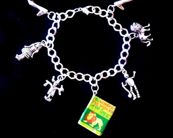 Deluxe Wizard of Oz Mini Book Charm Bracelet