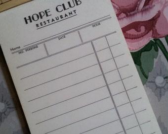 12 Vintage Hope Club Restaurant Mad Men Receipts Guest Check