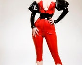 TG KITSUNE Latex Rubber Corseted Catsuit