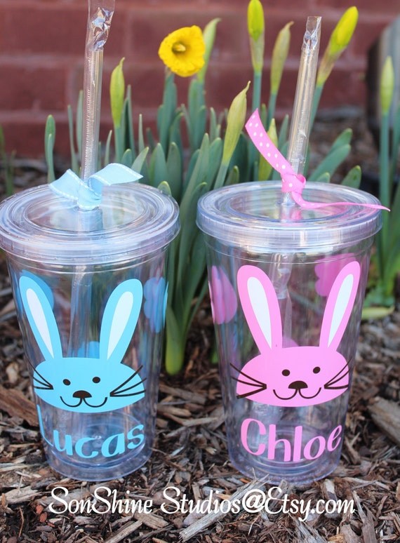 Personalized Easter Rabbit Kids Tumbler 12 Oz