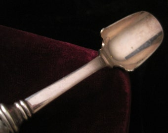 Sterling Silver Scoop Sugar Spoon Serving Vintage Floral Handle 925