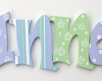 Wooden Letters Decorative Wall Letters Letters for Nursery Name Letters Wall Letters Wooden Wall Letters Nursery Decor Wood Letters