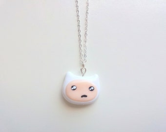 Confused Finn Adventure Time necklace