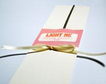 Do It Yourself Light Me Sparkler Holder, Wedding Send Off, Pink & Orange Farewell Send Off