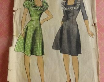 Vintage DuBarry Pattern 6096 Misses Princess Style Dress Size 18 FF