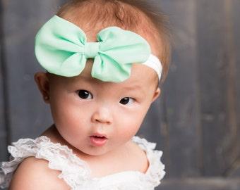 Newborn headband, Baby Girl Headbands, Hairbow, Baby Girl Bows, Headband, mint Headband, chevron headband, baby girl hairbow, baby accessory