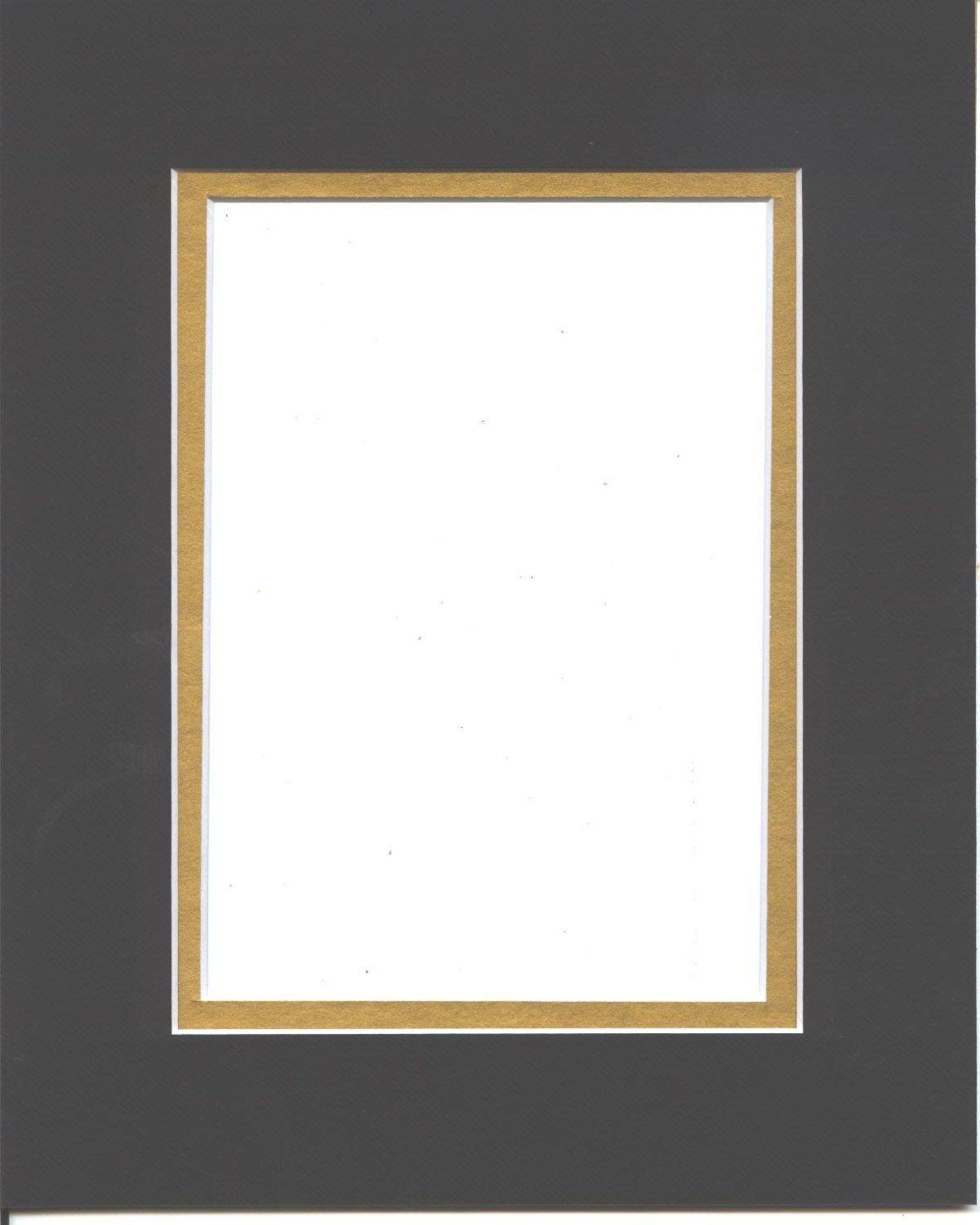 18x24 Black Amp Gold Double Picture Mat With White Core Bevel