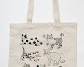 Cats Patterns, Tote Bag