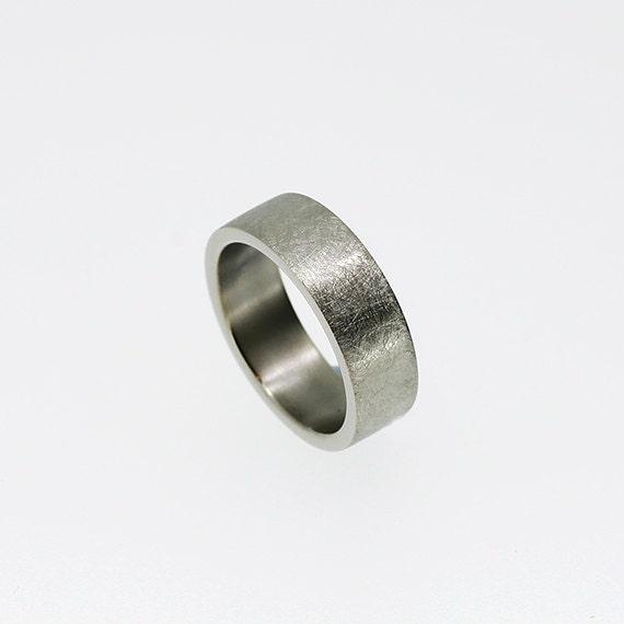 6 00mm wide scratched palladium wedding band modern ring