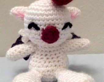 Crochet Mini Moogle Inspired Amigurumi Doll - Stuffed/Plush Toy