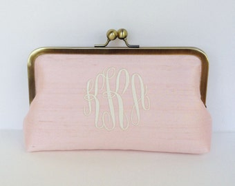 Personalized , monogrammed clutch, wedding clutch, bridesmaid clutch, bridesmaid gift