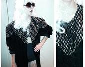 Velvet Sweater Duster 80's AC SPORT Top Blouse Robe Free Shipping U.S.