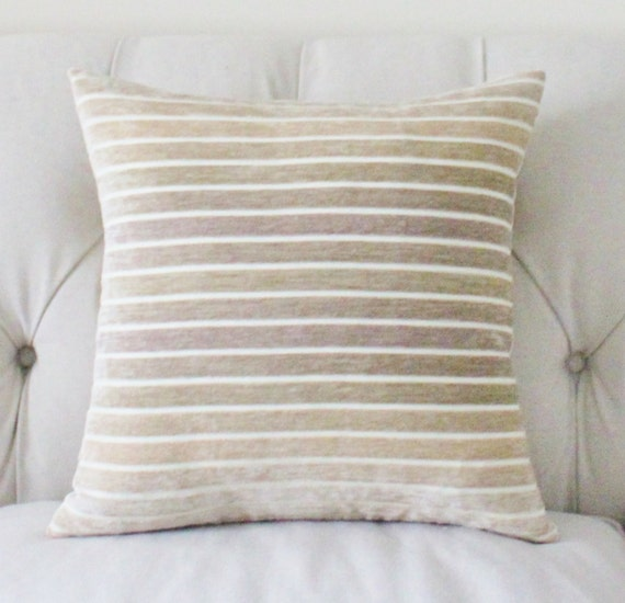Beige Decorative Throw Pillows : Decorative Ivory Pillow Grey Beige Ivory Ombre by MotifPillows