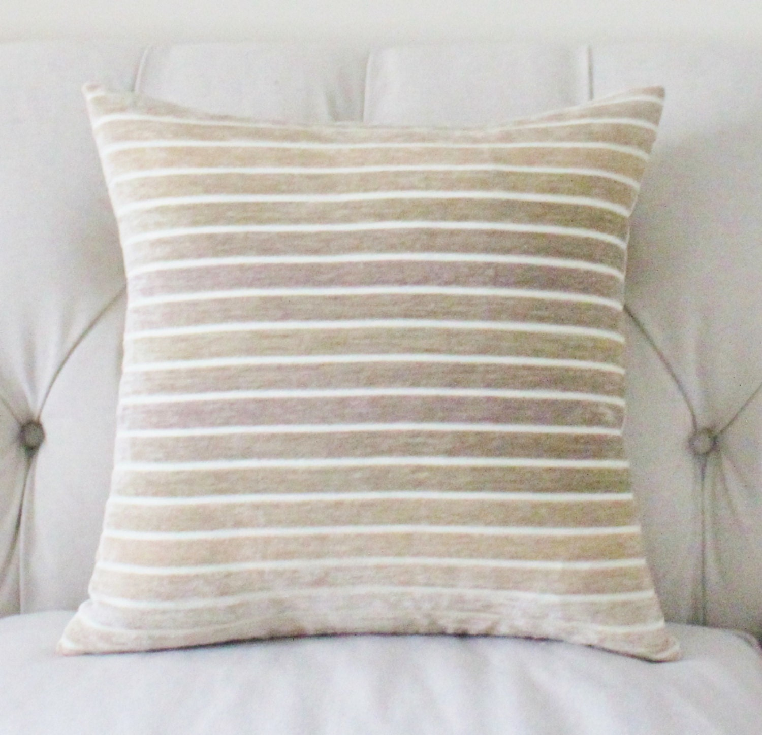Decorative Ivory Pillow Grey Beige Ivory Ombre by MotifPillows