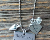 Mother Son Necklace, Hand Stamped Mother Son Necklace, Mothers Day Gift