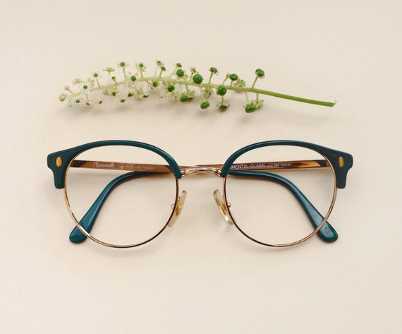 80s faconnable frames vintage rounded cat eye eyeglasses green glasses italian sunglasses