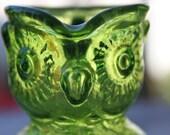 Kanawha Emerald Owl creamer size 'Pitcher'