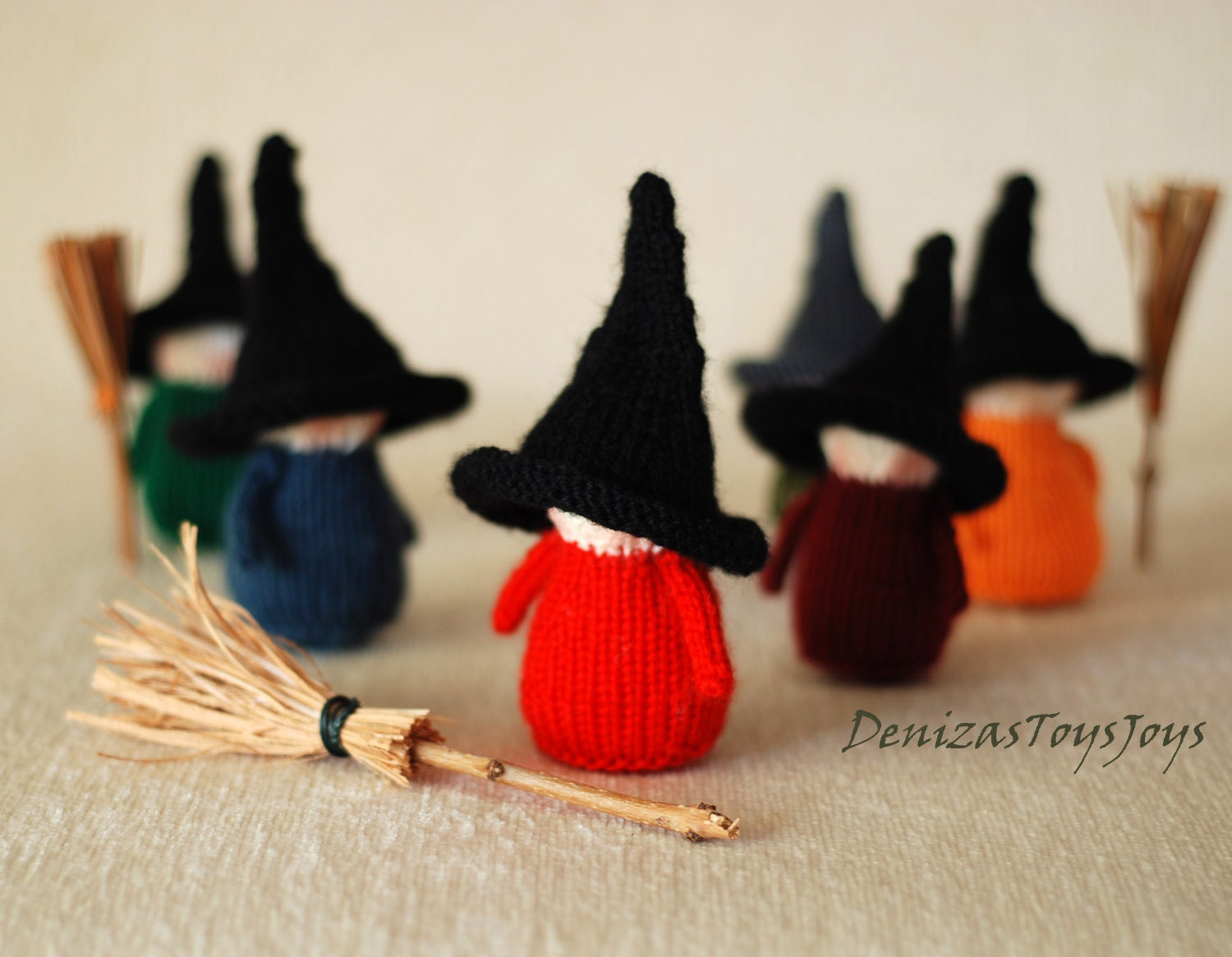 Halloween Knitting Patterns : Waldorf Halloween Witches Babies pdf knitting patterns.