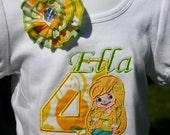 Ari's Angels Lemon Meringue Girls Birthday Shirt Embroidered, Strawberry Shortcake Appliqued, Monogrammed