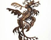 Bronze leafy sea dragon sculpture by Kirk McGuire