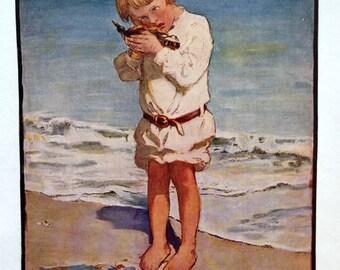 1919 Jessie Willcox Smith BEACH SEASIDE EDWARDIAN Print for Framing