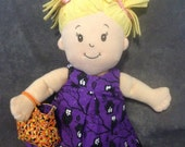 Reversible Doll Purse/Tote/Trick-or-Treat Bag for Baby Stella, Bitty Baby, Waldorf and 13, 14, 15, 16 Inch Dolls