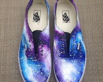 Galaxy Vans Sneakers - Cloudy Galaxies - Custom Hand Painted