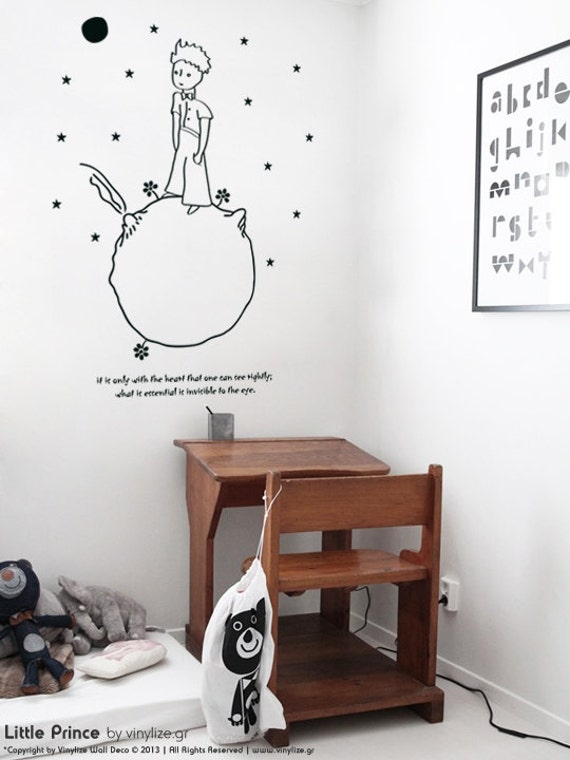 Little prince wall sticker adhesive vinyl by - Sticker petit prince ...
