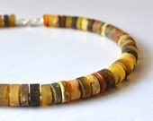 Amber Necklace, Genuine Baltic Amber, Earthy Colors, Amber Jewellery, Baltic Amber Jewelry, Autumn Fall Amber