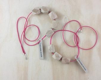 Okawa 3 bead necklace