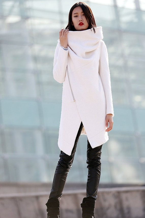 Winter coat Wool Coat coat White coat womens jackets