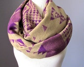 Winter scarf , super chunky scarf, Purple scarf, Christmas gift