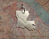 Louisiana State Pet ID Tag -Custom Dog or Cat Identification Tag -Handmade