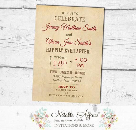 After Destination Wedding Reception Invitations for beautiful invitation template