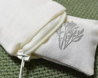 MINI Lavender Sachets With Washable Zippered Covers, For Calming and Peaceful Scent Anywhere