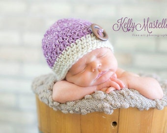 LIttle Sugar Plum Crochet Beanie in size Newborn - 3 months
